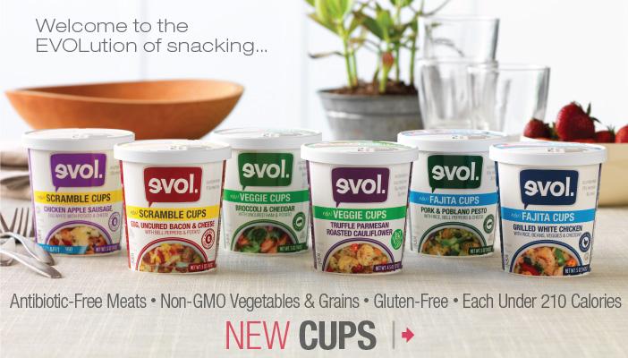 Evol Foods Introduces New Cups - Celiac Disease